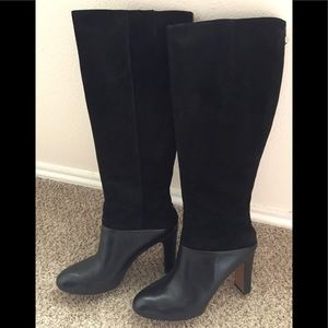 Nine West Suede & Leather Black Boots